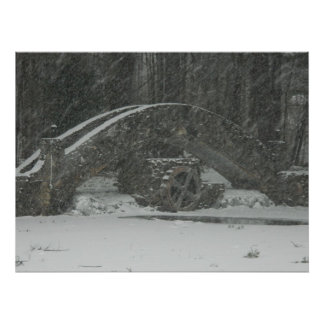Puente de Nueva Inglaterra Nevado Posters