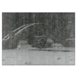 Puente de Nueva Inglaterra Nevado Tablas Para Cortar