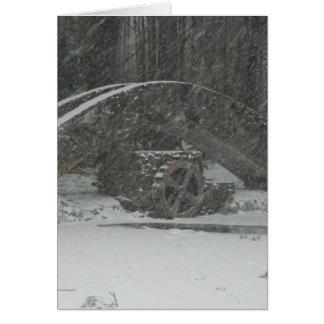 Puente de Nueva Inglaterra Nevado Tarjeta De Felicitación