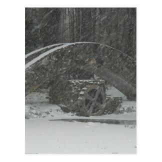 Puente de Nueva Inglaterra Nevado Postales
