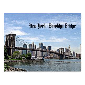 Puente de Nueva York - de Brooklyn Tarjeta Postal