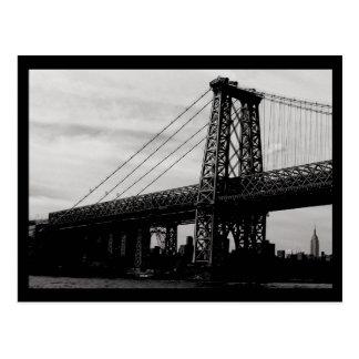 Puente de NYC Tarjeta Postal