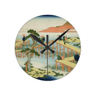Puente de ocho porciones, provincia de Mucawa, Jap Relojes De Pared