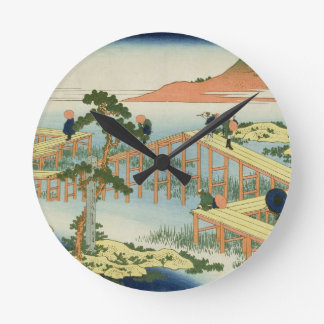 Puente de ocho porciones, provincia de Mucawa, Jap Reloj Redondo Mediano