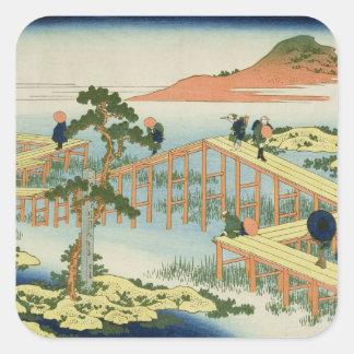 Puente de ocho porciones, provincia de Mucawa, Pegatina Cuadrada