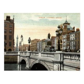 Puente de O'Connell, vintage 1915 de Dublín, Tarjetas Postales