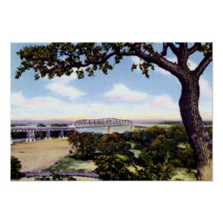 Puente de Omaha Nebraska a los pen¢ascos del conse Poster