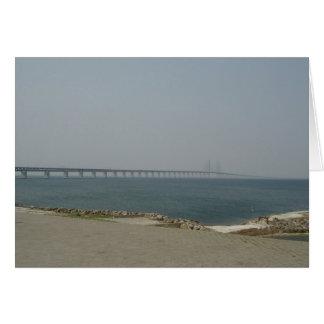 Puente de Oresund Tarjeta De Felicitación