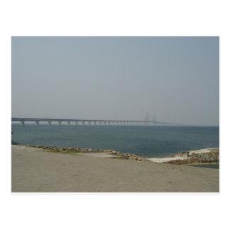 Puente de Oresund Tarjeta Postal
