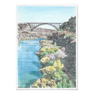 Puente de Perrine en la caída Fotografías