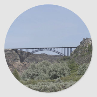 Puente de Perrine Pegatina Redonda