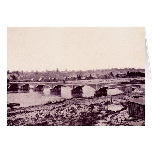 Puente de Perú Indiana el río Wabash Tarjeta De Felicitación