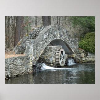 Puente de piedra de Nueva Inglaterra Posters