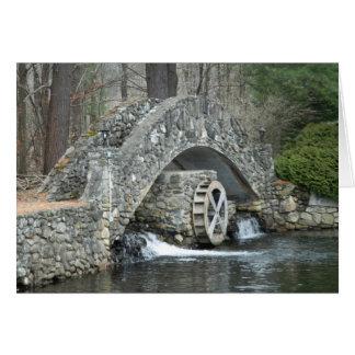 Puente de piedra de Nueva Inglaterra Tarjeta De Felicitación