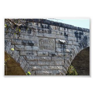 Puente de piedra del arco de Clements, Kansas Fotografía