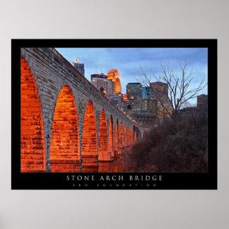 Puente de piedra del arco de Minneapolis Impresiones