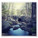 Puente de piedra del arco, Hillsboro New Hampshire Fotografía