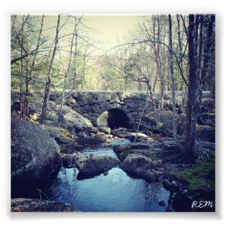 Puente de piedra del arco Hillsboro New Hampshire Fotografías