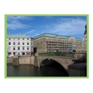 Puente de piedra en Goteberg Sweeden Postales