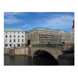 Puente de piedra en Goteberg Sweeden Tarjetas Postales