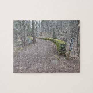 Puente de piedra en pista de senderismo puzzle