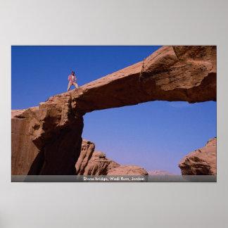 Puente de piedra, ron del lecho de un río seco, Jo Impresiones