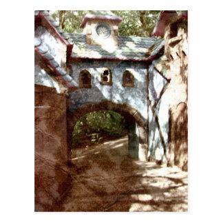 Puente de piedra postal