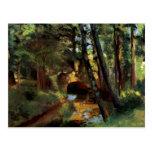 Puente de Pissarro del arte impresionista del post Postal