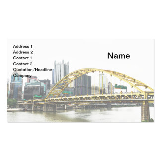 Puente de Pitt del fuerte en Pittsburgh, Tarjetas De Visita