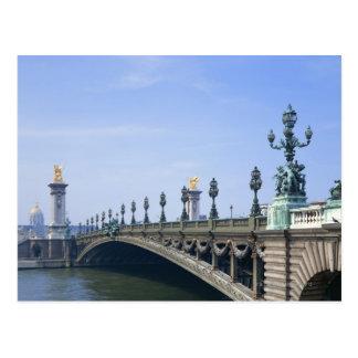 Puente de Pont Alejandro-III Postal