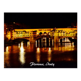 Puente de Ponte Vecchio en Florencia, Italia Postal