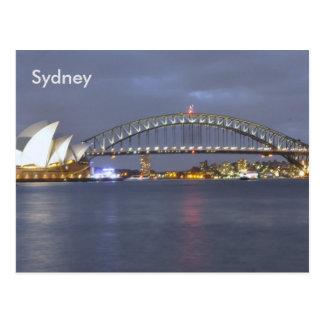 Puente de puerto de Sydney Australia Tarjeta Postal