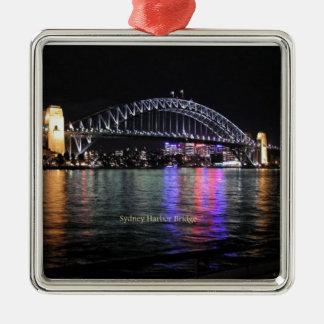 Puente de puerto de Sydney Adorno Cuadrado Plateado