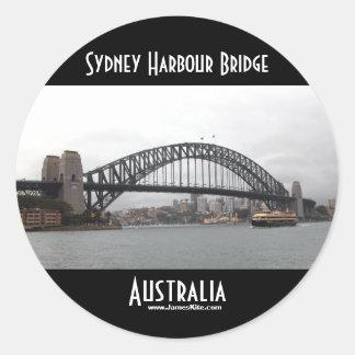Puente de puerto de Sydney Pegatina Redonda