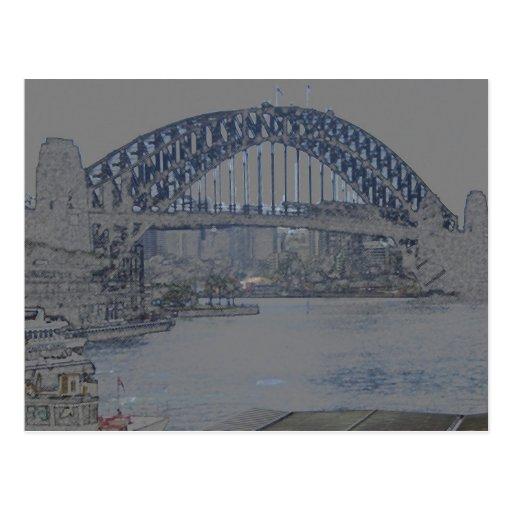 puente de puerto de Sydney Postales