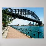 puente de puerto de Sydney Póster