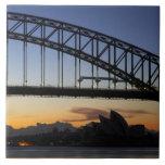 Puente de puerto de Sydney y teatro de la ópera de Tejas