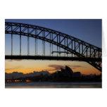 Puente de puerto de Sydney y teatro de la ópera de Felicitaciones