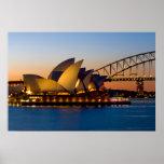 Puente de puerto del teatro de la ópera de Sydney  Poster