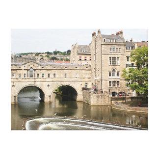 Puente de Pulteney, río de Avon, baño, Inglaterra Impresiones En Lienzo Estiradas