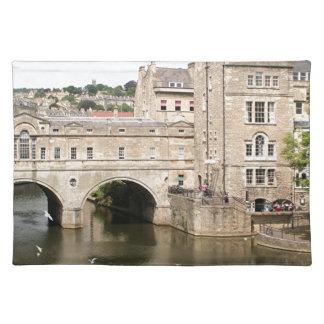 Puente de Pulteney, río de Avon, baño, Inglaterra Manteles Individuales