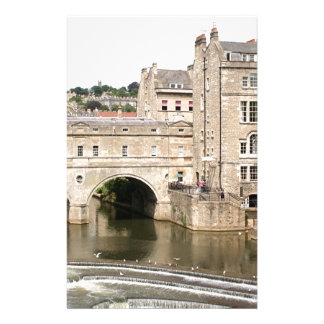 Puente de Pulteney, río de Avon, baño, Inglaterra Personalized Stationery