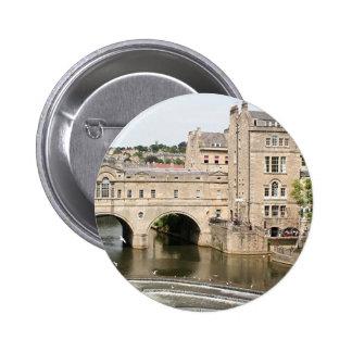 Puente de Pulteney, río de Avon, baño, Inglaterra Pin Redondo 5 Cm