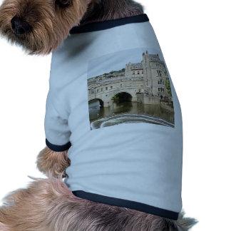 Puente de Pulteney, río de Avon, baño, Inglaterra Camiseta Con Mangas Para Perro