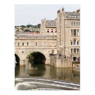 Puente de Pulteney, río de Avon, baño, Inglaterra Postales