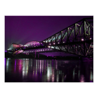 Puente de Quebec Póster