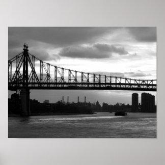 Puente de Queensboro 15 x 11 poster - ninguna fron