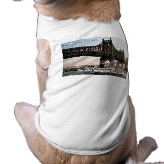 Puente de Queensboro a New York City Playera Sin Mangas Para Perro