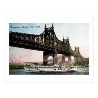 Puente de Queensboro a New York City Tarjeta Postal