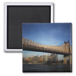 Puente de Queensboro, New York City Imán Cuadrado